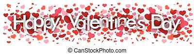 Happ Valentines Day Confetti Hearts Header