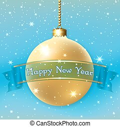 Happe New Year Christmas bauble