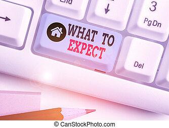 happen, future., concept, quel, confusion, mot, croyance, sur, écriture, volonté, expect., texte, business