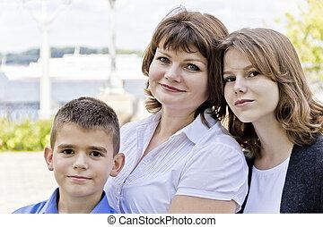 happiest, 母, 娘, 息子