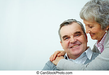 Happily ever after - Portrait of a mature embracing couple