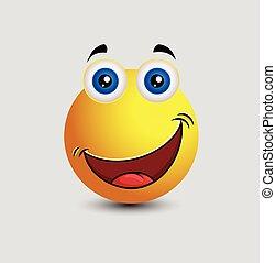 Happily Surprised Emoticon