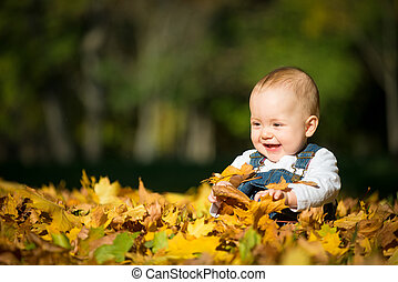 Happiness - baby in nature