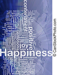 Happiness background concept