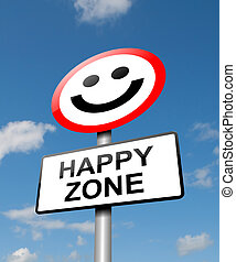 Happiness concept. - Illustration depicting a road traffic...