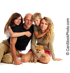 Happiness family with a dog 4