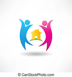 happiness in the house icon