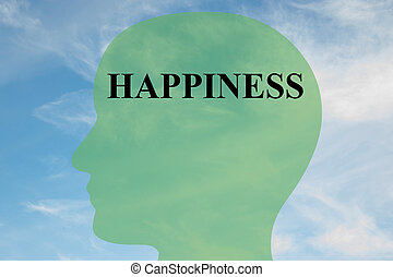 Happiness - mental concept