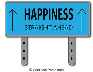 Happiness Sign Concept