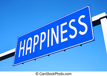 Happiness street sign