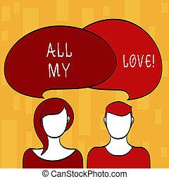 happiness., tout, concept, texte, love., bon, signification, roanalysisce, mon, vous, sentiment, entier, écriture, affection