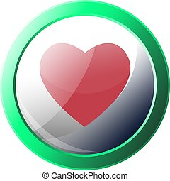 Happn app logo inside a green circle vector icon illustration on a white background