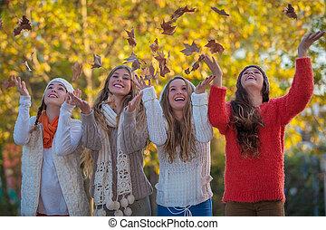 happt autumn teens leaves