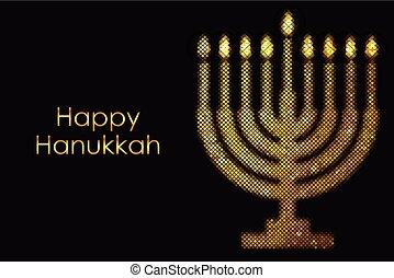 """happy, וקטור, hanukkah"", כרטיס"