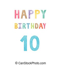 Happy 10th birthday anniversary card