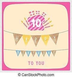 Happy 10th birthday card