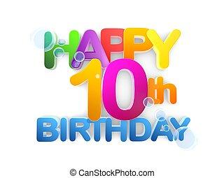Happy 10th Birthday Title, light