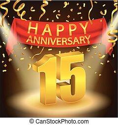 Happy 15th Anniversary celebration