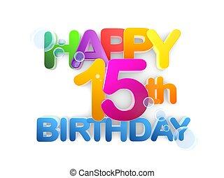 Happy 15th Birthday Title, light