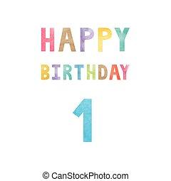 Happy 1st birthday anniversary card