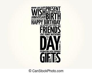 Happy 1st birthday word cloud