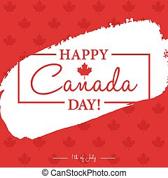 Happy 1th of July Canada Day card or background with Maple...