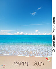 happy 2015 in the sand