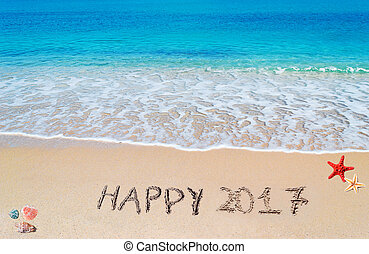 happy 2017 in the sand