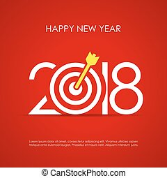 Happy 2018 New Year greeting card design