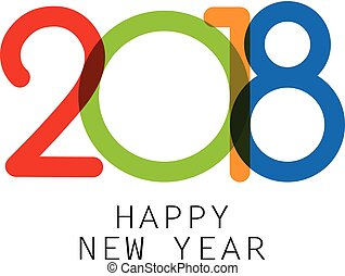Happy 2018 new year sign.