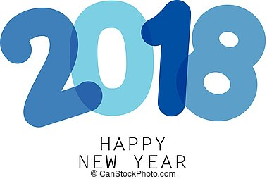 Happy 2018 new year sign. - Blue happy 2018 new year sign....
