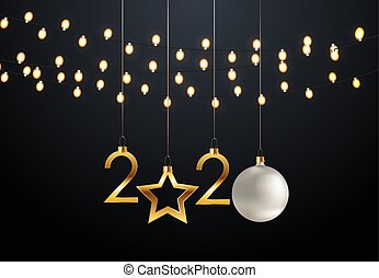 Happy 2020 New Year Background. Vector Illustration