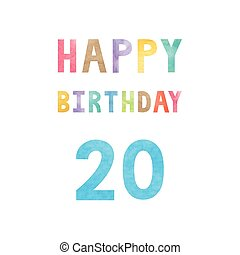 Happy 20th birthday anniversary card