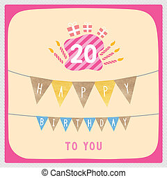 Happy 20th birthday large red 20 with happy birthday in stock happy 20th birthday card bookmarktalkfo Choice Image