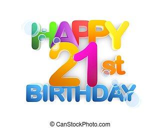 Happy 21st birthday Title, light