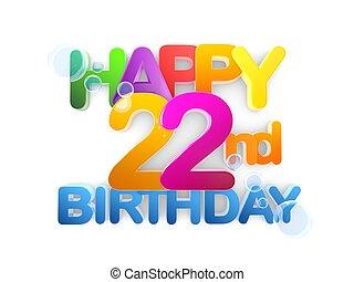 Happy 22nd Birthday Title, light