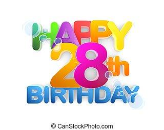 Happy 28th Birthday Title, light