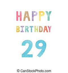 Happy 29th Birthday Anniversary Card