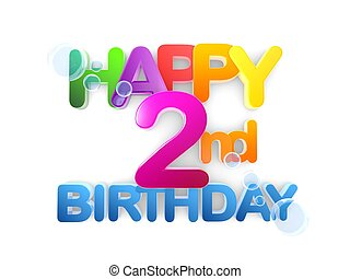 Happy 2nd Birthday Title, light