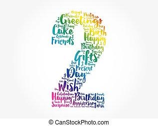 Happy 2nd birthday word