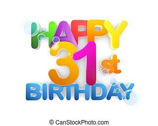 Happy 31st Title, Birthday light