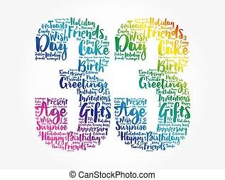 Happy 33rd birthday word cloud