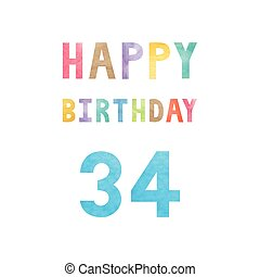 Happy 34th birthday anniversary card