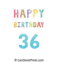 Happy 36th birthday anniversary card