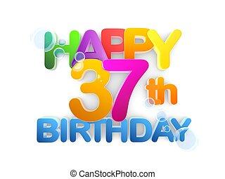 Happy 37th Title, Birthday light