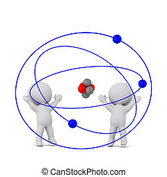 Happy 3D Characters with a Large Atom