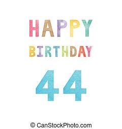 Happy 44th birthday anniversary card