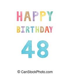 Happy 48th birthday anniversary card