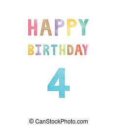 Happy 4th birthday anniversary card
