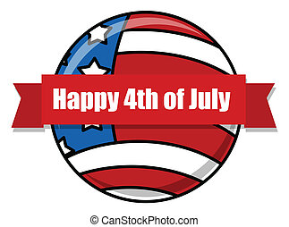happy 4th of july design icon Vector Illustration